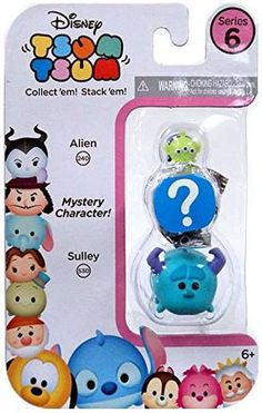 !0012# Disney Tsum Tsum Series 6 Alien & Sulley 1-Inch Minifigure 3-Pack