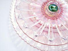 Repurposed Pink Glass Flower Garden Art Gift For The Garden