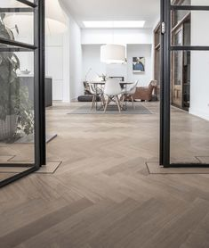 by Vorselaars - Tilburg - 10 jr garantie Floor Design, House Design, Loft Bed Plans, Herringbone Wood Floor, Modern Sofa Designs, Interior Architecture, Interior Design, Modern Flooring, Living Room Inspiration