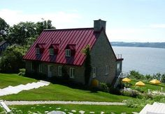 ÎLE d'ORLÉANS Quebec City, Montreal, Cabin, House Styles, Nature, Home Decor, House Beautiful, Old Houses, Country Cottage Living