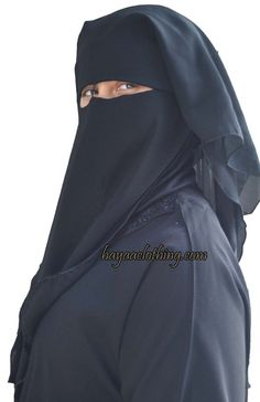 Hayaa Clothing - 3 Layers Fluttery Butterfly Black Saudi Niqab with Nose String, (http://www.hayaaclothing.com/3-layers-fluttery-butterfly-black-saudi-niqab-with-nose-string/)