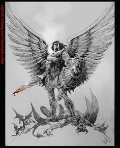 demon angel art | El Angel and Devil by elshazam on DeviantArt
