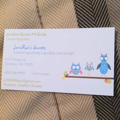My new business cards!!