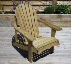 Swedish Redwood Adirondack Relaxing Garden Chair - Sustainable Furniture