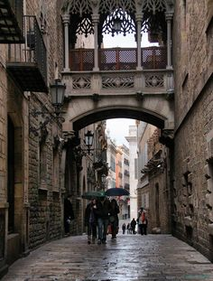 Rainy Day, Barcelona, Spain