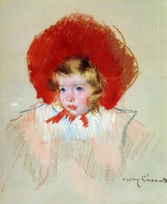 Child with Red Hat by Mary Cassett