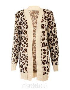 Animal Print Knitted Cardigan