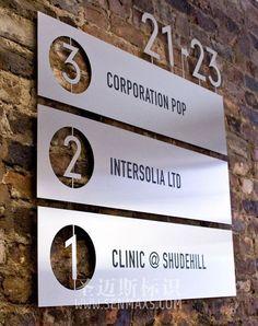 Nice!    | signage | #office #signage #moderndesign http://www.ironageoffice.com/