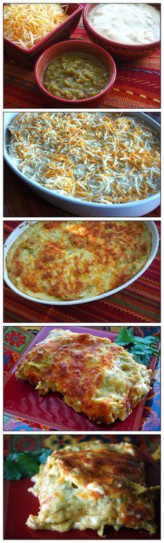 Enchilada Lasagna. Yum!
