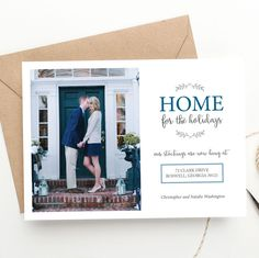 Holiday Photo Christmas Card | Home for the Holidays | Moving Announcement | New Home | FREE SHIPPING | Printed Invitations or DIY by BellaCartaBoutique on Etsy https://www.etsy.com/listing/251009348/holiday-photo-christmas-card-home-for