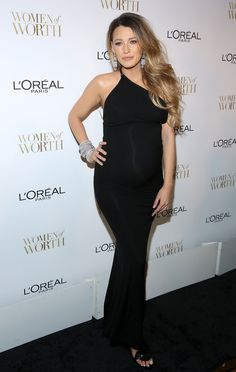 Blake Lively Shows Dark Roots in Pregnancy Hairstyle at L'Oreal Paris' Women of Worth Celebration