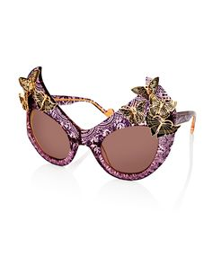 The Queen Paisley Cat-Eye Sunglasses, Plum, Plum Bronze - Anna-Karin Karlsson