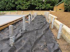 Vis de fondation pour une terrasse en bois