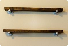 "Restoration Hardware inspired ""reclaimed"" wood and metal wall shelves"