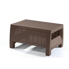 Keter Corfu Modern All-weather Outdoor Patio/Garden/Backyard Coffee Table Furniture