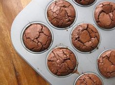 Brownie Bombs! - brownie bites baked in a mini muffin pan