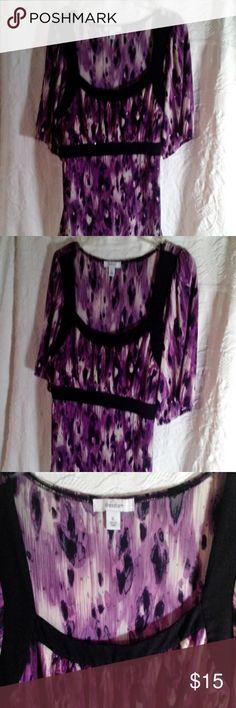 Purple black blouse, XL Fashion Bug Blouse, XL purple black, comfy Fashion Bug Tops Blouses