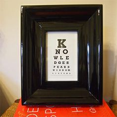 Make your own eye chart art - a quick and easy tutorial!