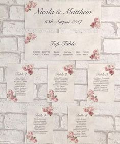 Vintage Style Wedding Table Plan Cards Pink Planner Seating Wedding Table Planner, Card Table Wedding, Wedding Table Numbers, Wedding Planning, Post Box Label, Seating Planner, Wedding Post Box, Wedding Ideas, Pink Planner