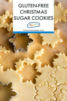 The perfect gluten-free sugar cookies that you can cut-out and decorate for any occasion! This easy recipe for gluten-free sugar cookies is great to use year round for all your holiday cookies. Gluten Free Sugar Cookies, Gluten Free Sweets, Sugar Cookies Recipe, Gluten Free Baking, Gluten Free Recipes, Gluten Free Gingerbread Cookies, Gf Recipes, Sugar Free, Christmas Sugar Cookies