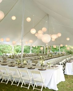 "See the ""The Reception"" in our A Rustic Navy-and-Taupe Tent Wedding at Home in Massachusetts gallery"