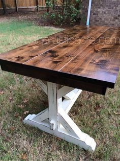 Farmhouse Table The Rustic Acre College Station, TX Custom Built Furniture Diy Farmhouse Table, Farmhouse Furniture, Rustic Table, Rustic Furniture, Rustic Decor, Home Furniture, Modern Farmhouse, Furniture Stores, Furniture Ideas