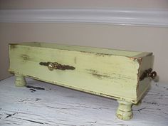 Vintage Upcycled Treadle Sewing Machine Drawer Shabby by RelicRedo, $32.00