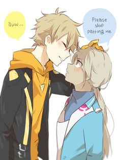 ♥ Girl... Boy... Spark... Pokémon... Pokémon GO!... Blush... Anime ♥