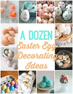 Getting ready to dye Easter eggs this weekend? Try sprucing up your colored eggs with one or more of these decorating ideas | FourGenerationsOneRoof.com