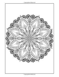 Amazon Coloring Books For Grown Ups Flowers Mandala Book