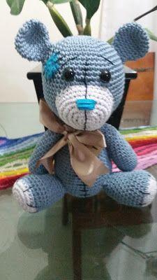 Urso amigurumi grande 65cm #amigurumi #crochet #croche #teddybear ... | 400x225