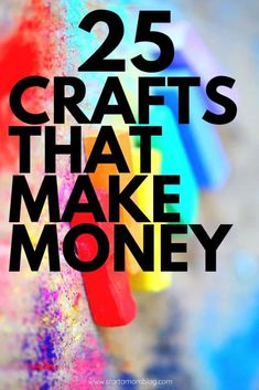 40 Easy & fun DIY crafts to make and sell that you need to try! If you are looking at making some extra cash, then make sure to try out these DIY crafts! Make Money Today, Make Real Money, Hobbies That Make Money, Things To Sell, Fun Hobbies, Money Fast, Hobbies And Crafts, Easy Crafts To Make, Diy Crafts For Kids