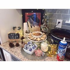 Hot cocoa bar! #babyshower #babyflurry #hotcocoabar #whitagram #iphoneonly #iphone6