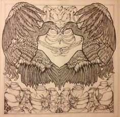 #art #drawing #penandink #vultures # birds #feathers #artist  #nicolahoneyart www.facebook.com/myartworkhoney