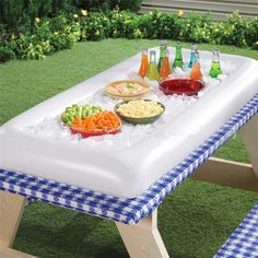$13.97 AUD - Inflatable Serving Bar Salad Buffet Ice Cooler Picnic Drink Table Party Camping #ebay #Home & Garden