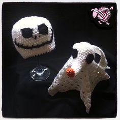 Crochet Jack Skellington Beanie & Zero Lovey-Dearest Debi Patterns ............ I've made similar before, pinning for inspiration