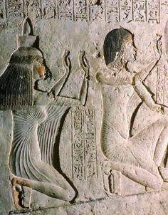 Tomb of Ay, Tiya and her husband Aya adoring Aten 18ieme Dynastie