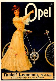Shop Opel Bicycles Vintage Advertisment Postcard created by MyOtherPlanet. Personalize it with photos & text or purchase as is! Old Bicycle, Bicycle Race, Old Bikes, Retro Bicycle, Vintage Advertisements, Vintage Ads, Vintage Posters, Vintage Cycles, Vintage Bikes