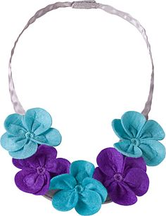 Felt Flower Necklace Product Information
