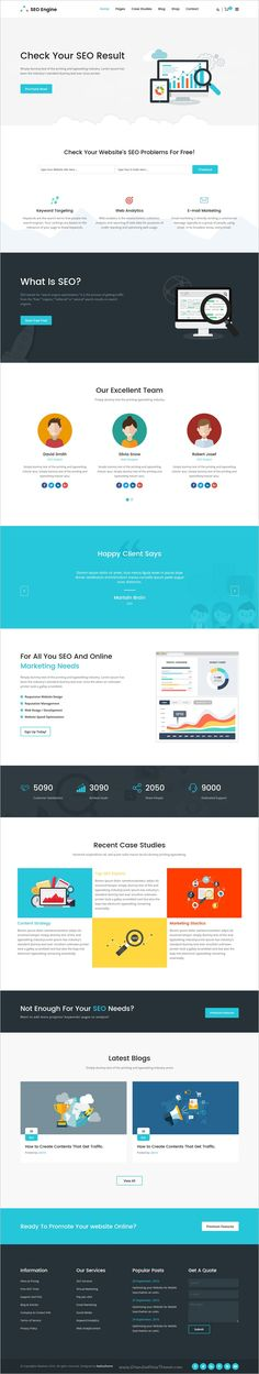 SEOEngine is a clean and modern 4in1 Bootstrap #HTML #theme for all kinds of SEO, #Web #Agency and Digital marketing websites download now➩ themeforest.net/...