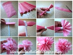 Ιδέες για δασκάλους: Λουλούδια από ριζόχαρτο :-)
