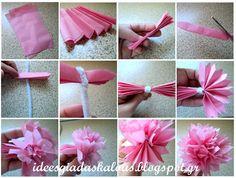 Ιδέες για δασκάλους:Λουλούδια από ριζόχαρτο :-)
