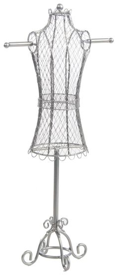 French Wire Tabletop Dress Form Jewelry Organizer [Almost