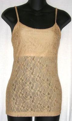 121e4681b7f11 LACE Cotton Spandex Camisole Cami with Built in Shelf Bra and Adjustable  spaghetti straps in