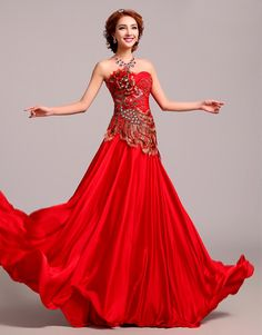 Romantic-Red-Wedding-Dresses-