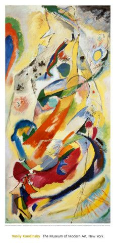 """Wassily Kandinsky (1886 – 1944), the father of abstract art, also a skilled musician, strongly associated music with art. Kandinsky, who named works after musical terms, saw color when he listened to music, and believed color could visually express music's timber, pitch and volume. At age 30, Kandinsky's artistic career began when he left a legal career to pursue artistic studies after seeing Monet's """"Haystacks."""" Passionately compelled to create, Kandinsky believed that the purity of this…"""