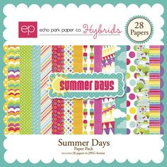 Snap Click Supply Co. - Summer Days Paper Pack, $3.99 (http://www.snapclicksupply.com/designers/echo-park-paper-co/summer-days-paper-pack/)