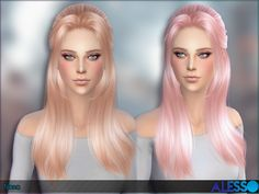 The Sims Resource: Nana hairstyle by Alesso - Sims 4 Hairs - http://sims4hairs.com/the-sims-resource-nana-hairstyle-by-alesso/