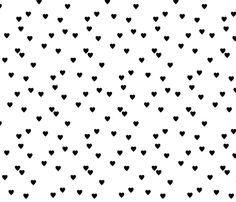 Black Hearts fabric by taraput on Spoonflower - custom fabric
