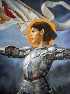 St Joan of Arc | www.saintnook.com/saints/joanofarc | Joan of Arc detail by dashinvaine